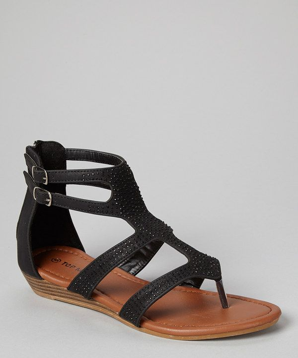 b31d63da03dd Look at this  zulilyfind! TOP MODA Black Rhinestone Gladiator Sandal by TOP  MODA
