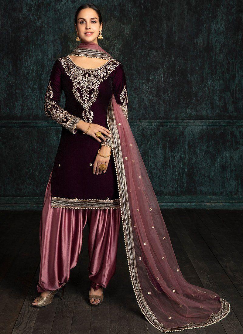 443f28e7cf ... Velvet Palazzo Suit. Dusty Green Floral Embroidered Organza Anarkali –  Lashkaraa