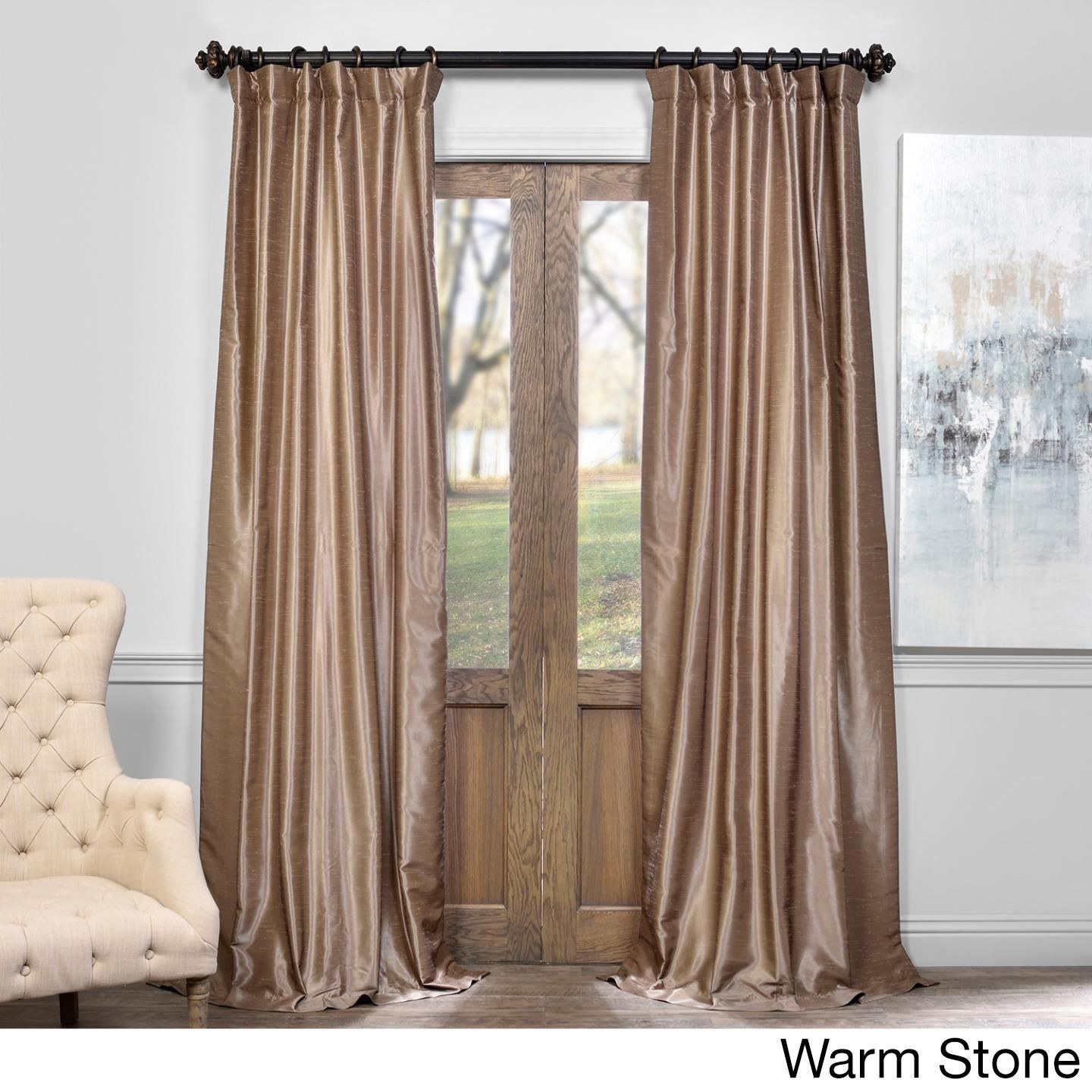 garden dupioni true vintage overstock curtain today faux blackout product fabrics exclusive free curtains home textured silk shipping