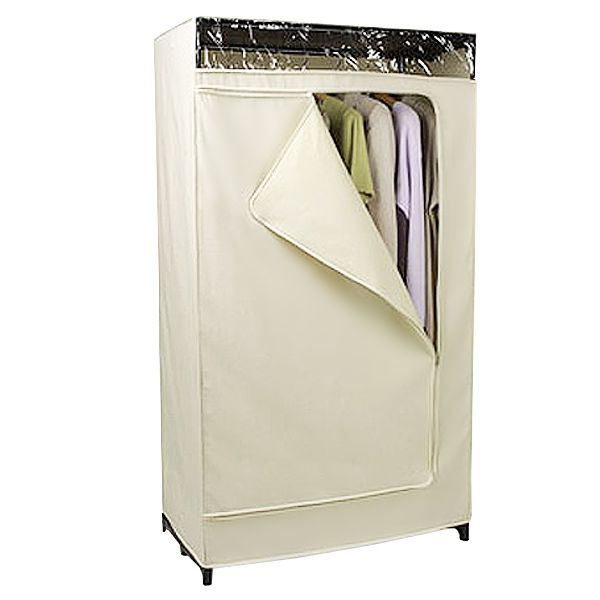 Add a closet without major construction thanks to our Natural Cotton Canvas Clothes Closet.  sc 1 st  Pinterest & Canvas Clothes Closet | Cotton canvas Canvases and Container store