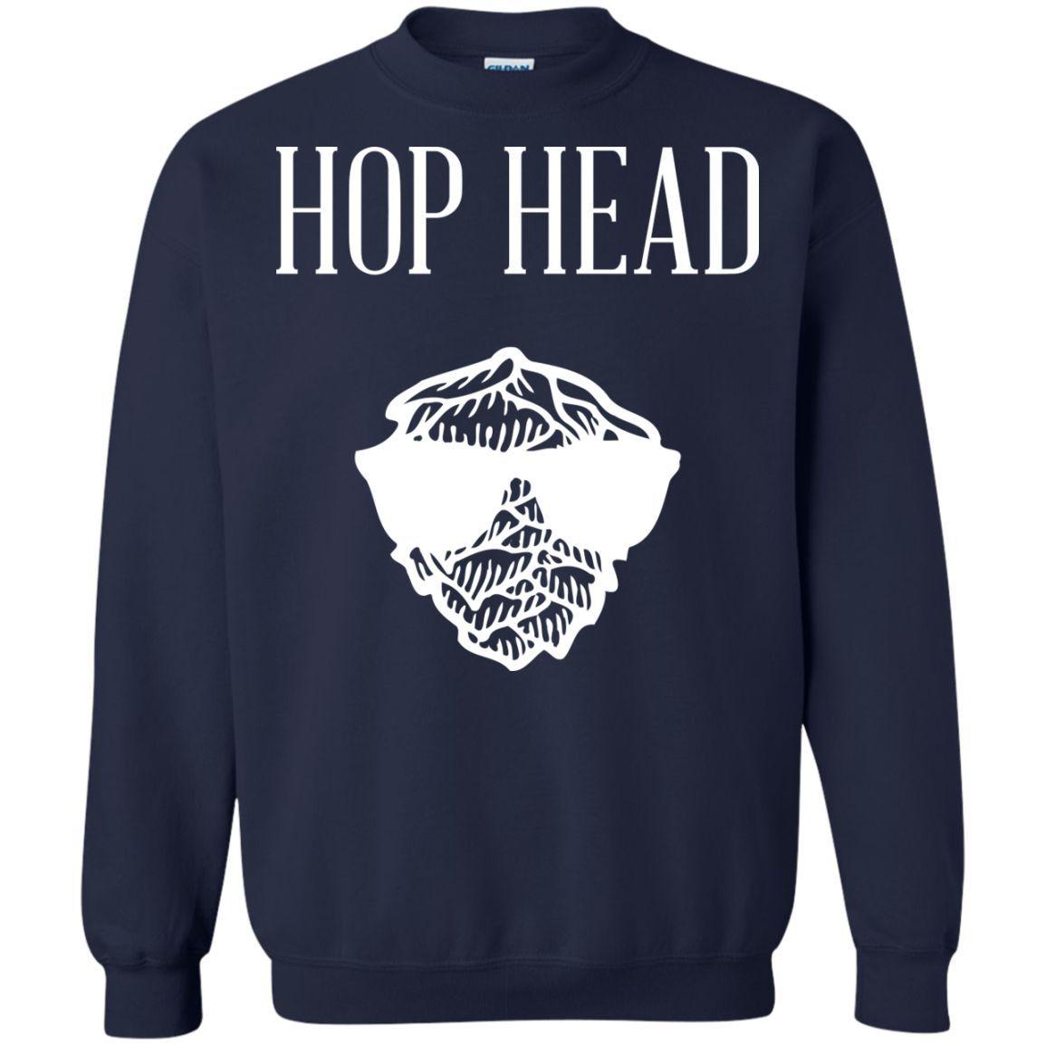 Hop Head Printed Crewneck Pullover Sweatshirt 8 oz