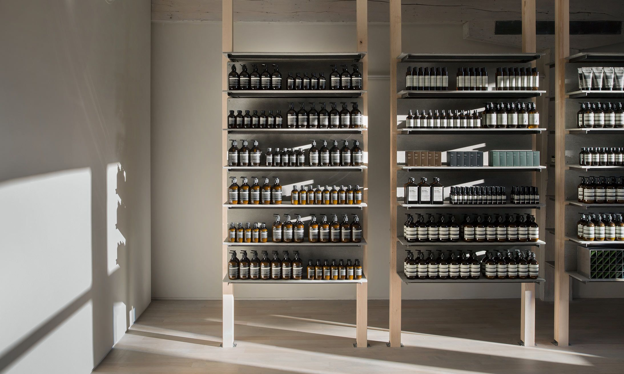 Vieux Montreal Montreal Canada Design Cosmetic Store Wine Rack