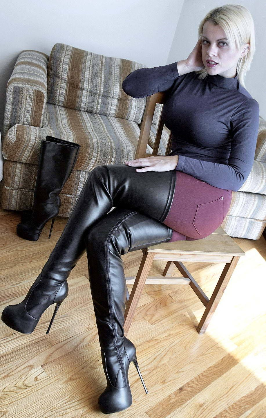 Fake Taxi Knee High Boots