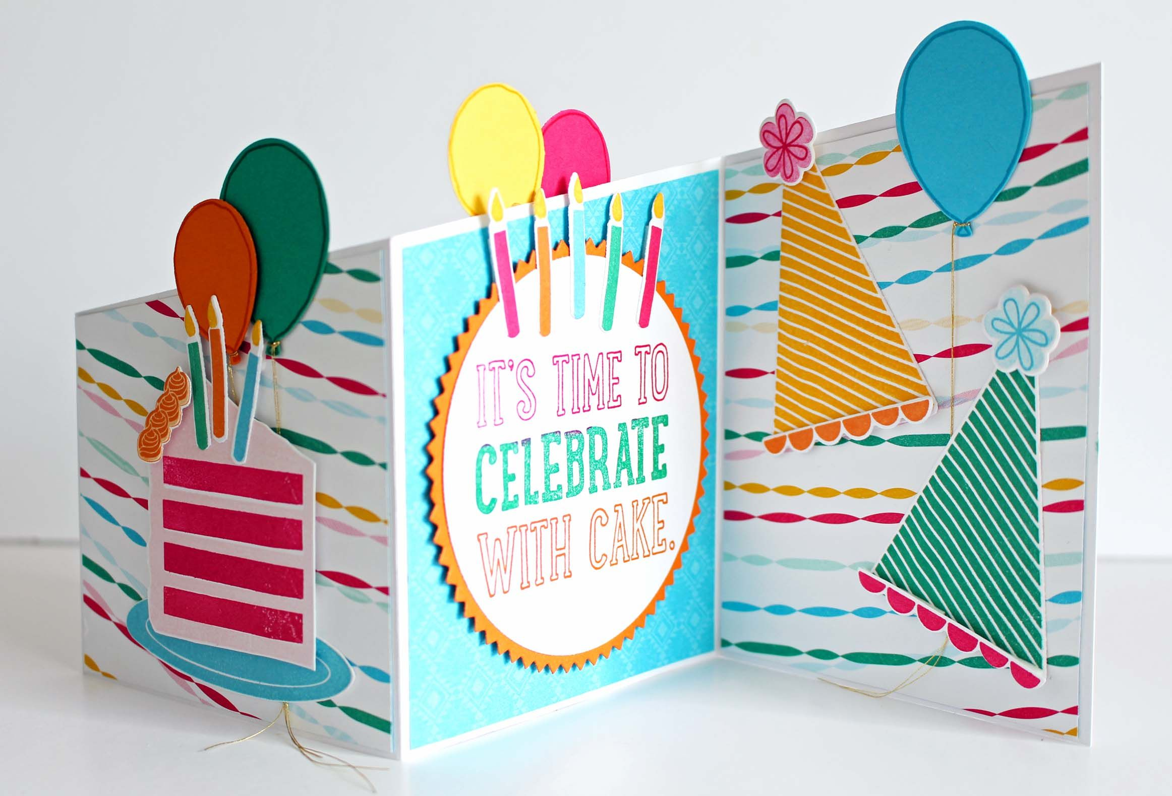 How to make a trifold card with Stampin Up, Biggest Birthday Ever ...