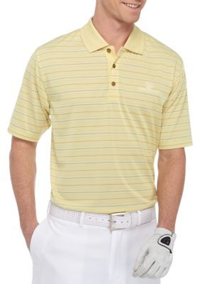 Pebble Beach Men S Jersey Milti Stripe Performance Golf Polo Shirt No Size