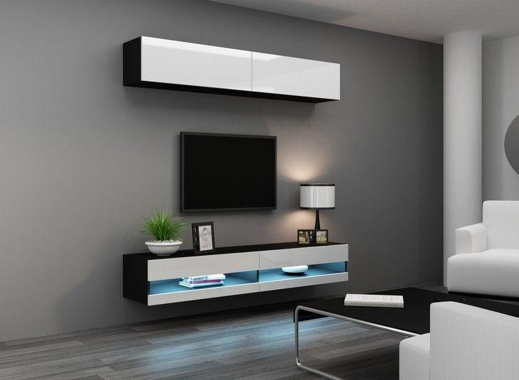 Vigo 10b Furniture Set Modern Tv Wall Units Tv Wall Unit White Tv Stands