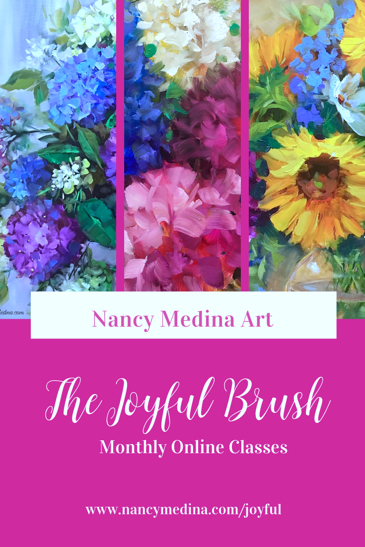 The Joyful Brush Is Here! Monthly painting classes with