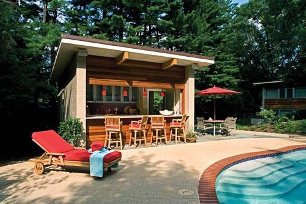 Exterior remodeling the best outdoor pool bar ideas for Best house designs with pool