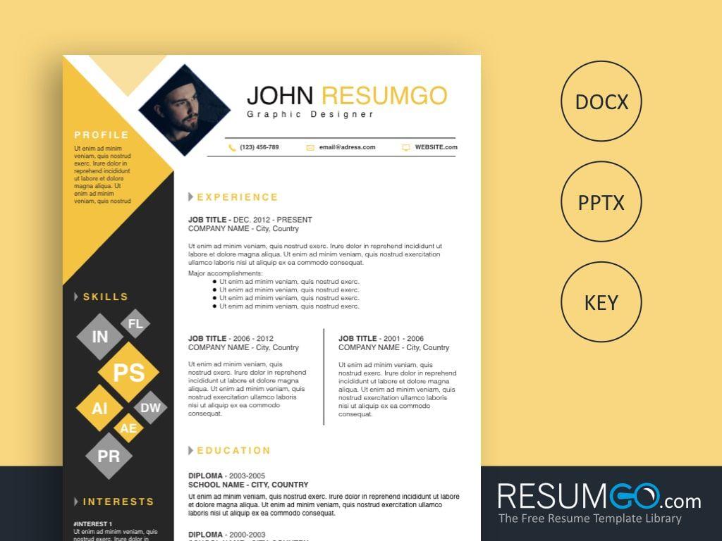 Deimos square resume template resume