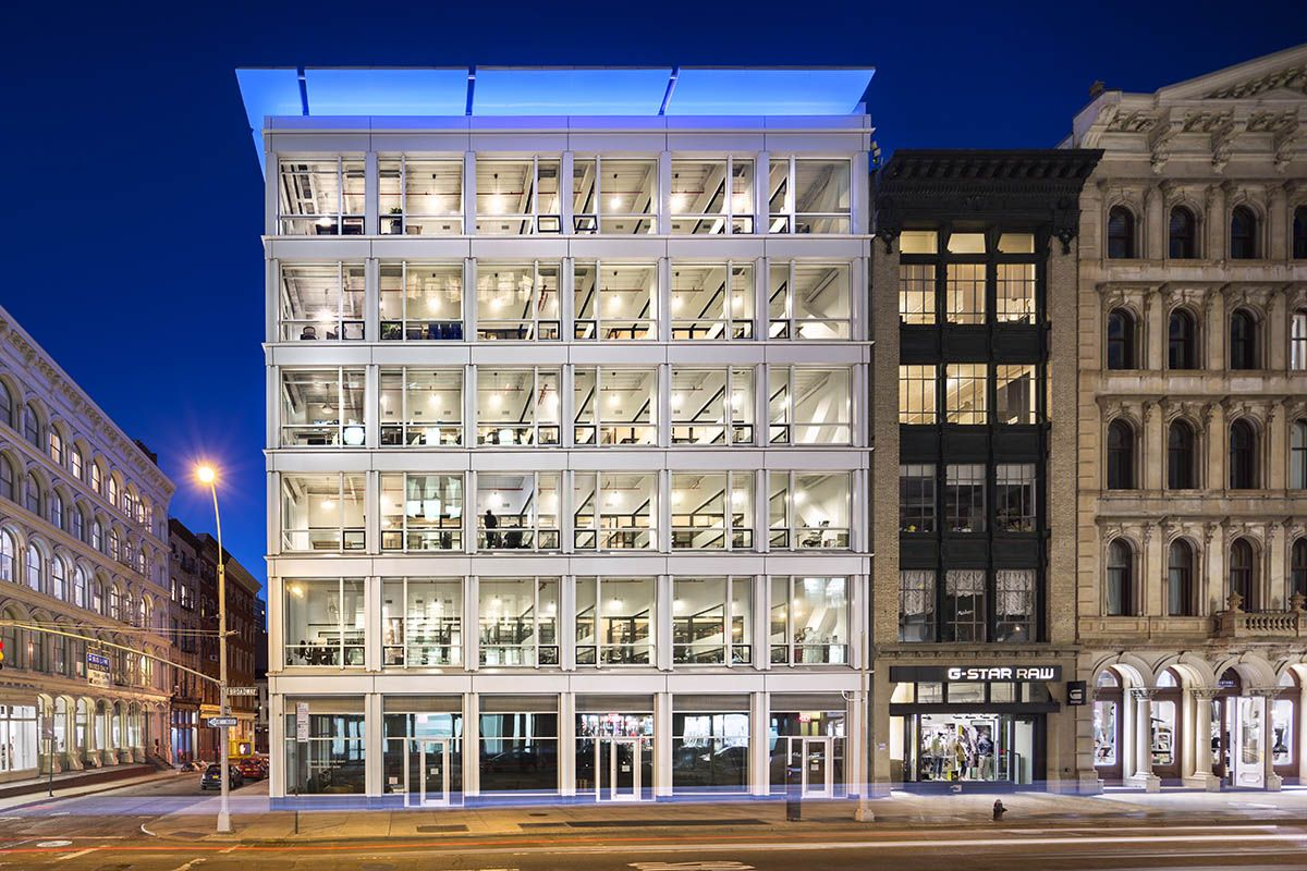 This new six story office building in manhattans historic soho cast