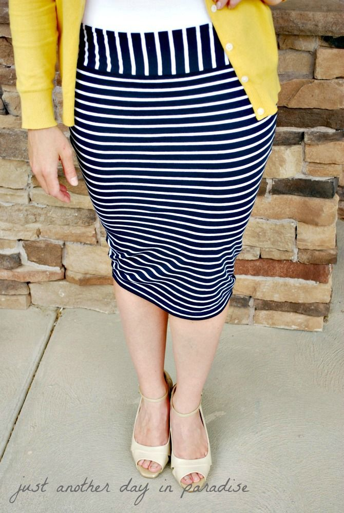 DIY: Pencil Skirt From T-shirt: Tutorial | EVERYTHING SEWING ...