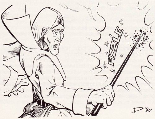 Fizzle. (Jeff Dee, from AD&D module Q1 Queen of the