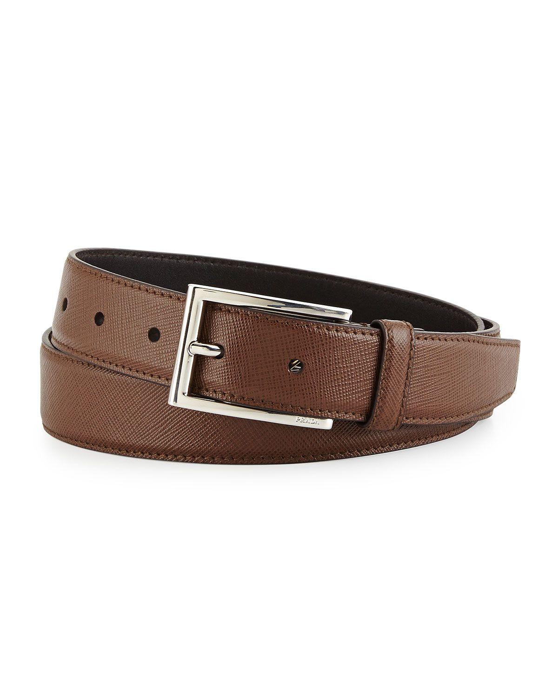 db28a14c14fa Prada Saffiano Basic Buckle Belt