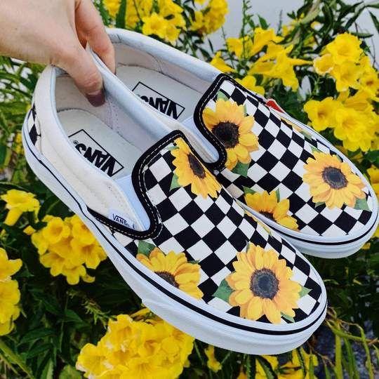 Sunflower Checker Slip On | Vans shoes
