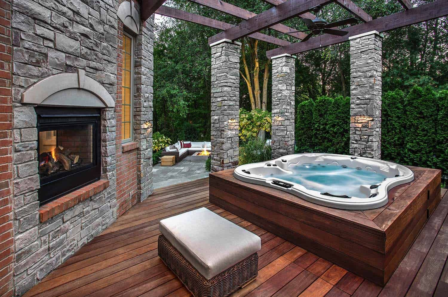 40 Outstanding Hot Tub Ideas To Create A Backyard Oasis Hot Tub Patio Hot Tub Backyard Hot Tub Garden