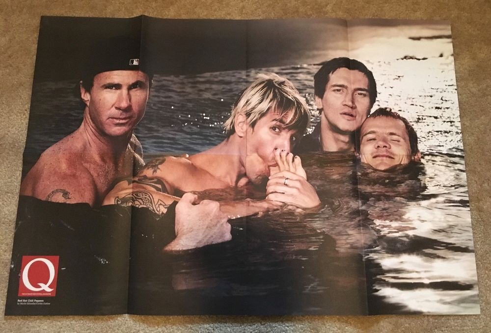 Q Magazine Double Sided Poster Red Hot Chilli Peppers/The