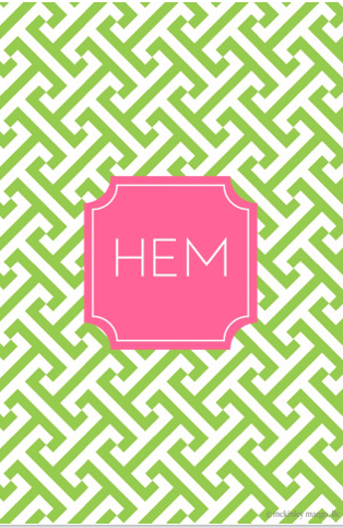 """Make your own monogrammed iPhone wallpaper with the """"Wall About You"""" app. It's magical."""