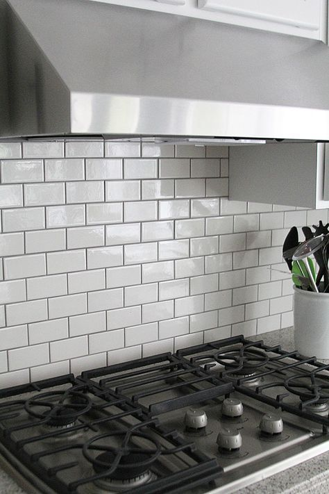 Gray grout with white subway tiles helps keep the kitchen from being whitewashed also what   your style of tile in for home pinterest grey