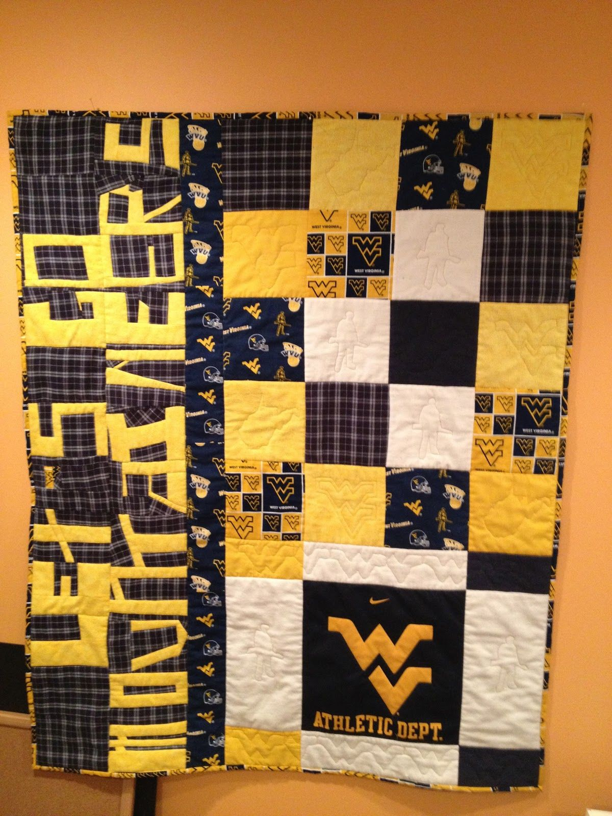 Ksspoildgrl S Craftier Ways Country Roads Take Me Home Wvu Mountaineers Quilts