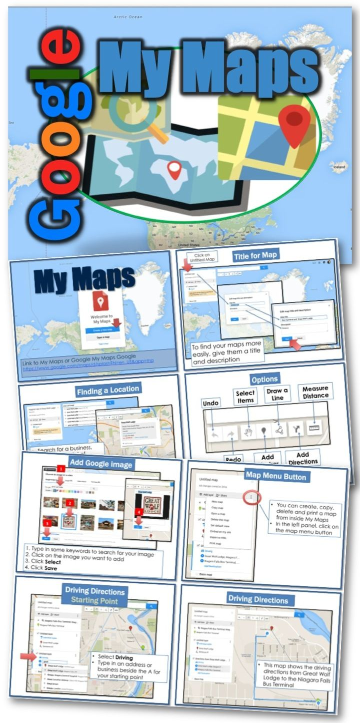 Google My Maps • Create a map • Draw lines, shapes, or
