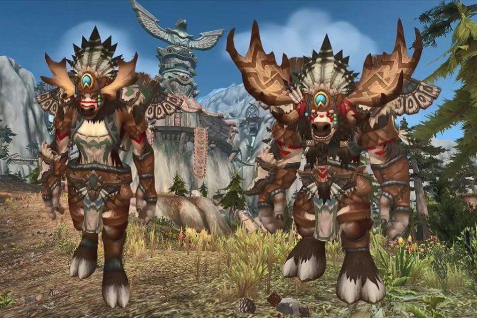 Highmountain Tauren Male And Female Posing For A Screenshot World Of Warcraft Tauren Warcraft