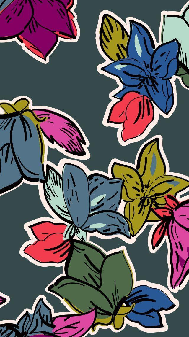 Vera Bradley Cell Phone Wallpaper Falling Flowers