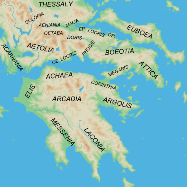 Phthia District in southeast Thessaly on the Gulf of Malia