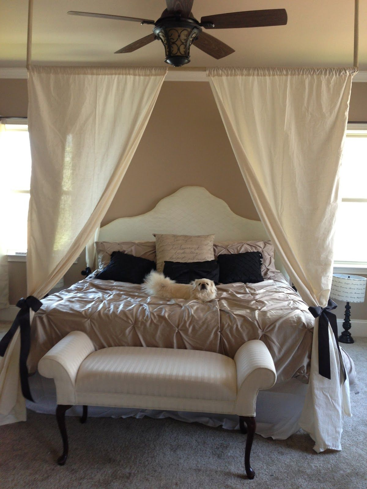 Our Diy Canopy Bed Barbie 39 S Dream House Pinterest