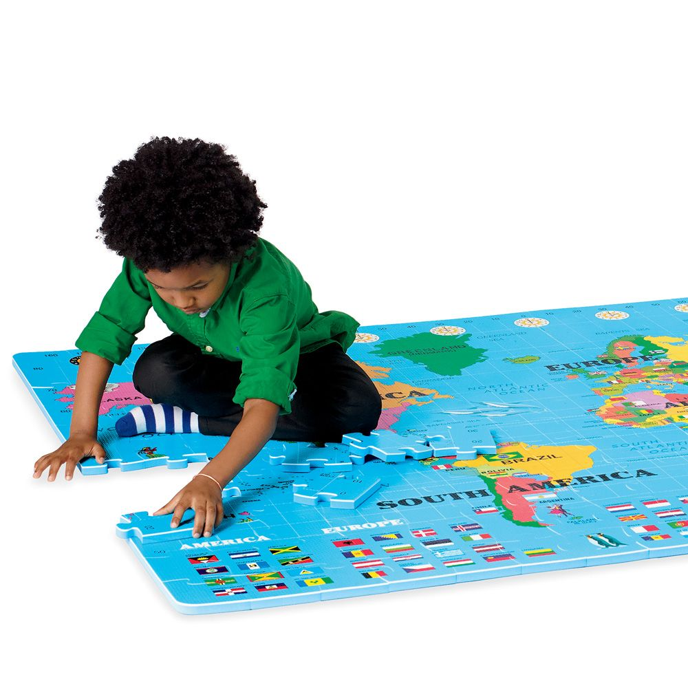 Educational kids toys our giant world map floor puzzle teaches educational kids toys our giant world map floor puzzle teaches geography and serves as a soft play mat gumiabroncs Images