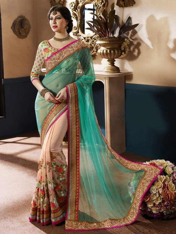 bbe0d4e138e Indian Wedding Saree Latest Designs   Trends 2019-2029 Collection ...