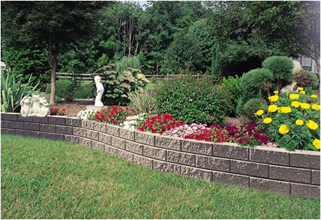slope landscaping with stone bg landscape retaining wall