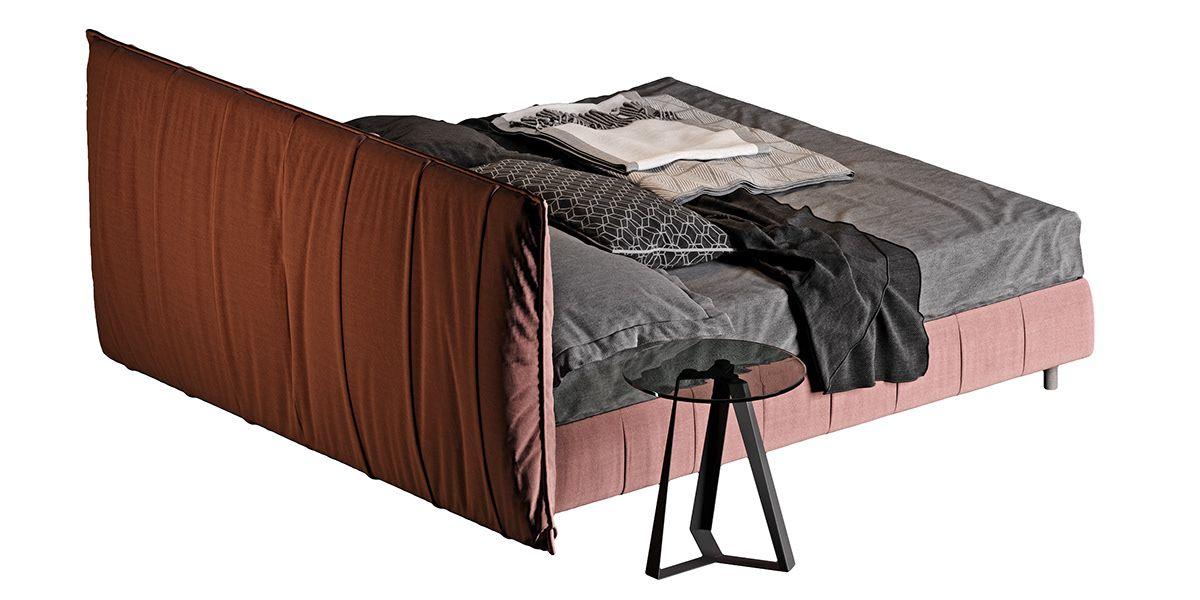 Bontempi plisse bed 3dmodel(fabric) on Behance