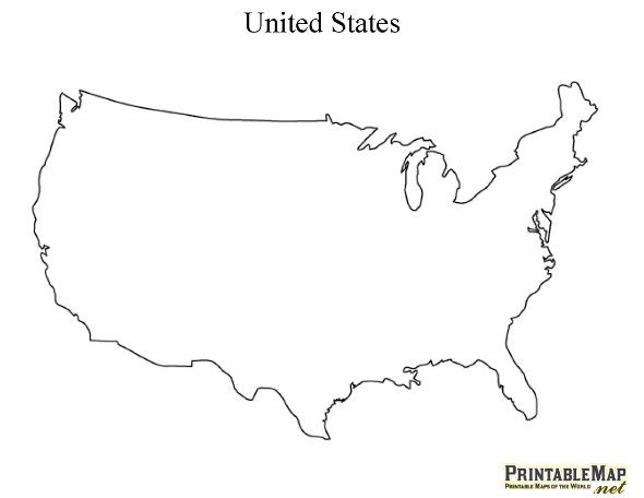 Us Outline Map Printable Free free printable maps | United states outline, State outline, 3rd