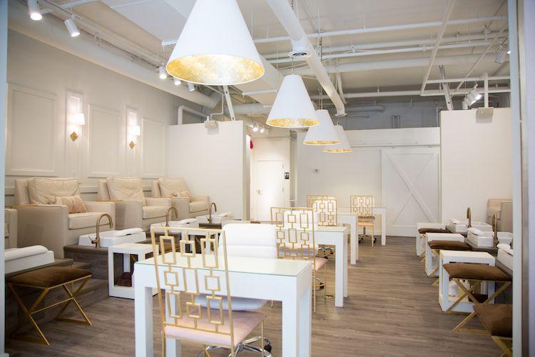 Paintbase Nail Salon Nails Beauty Modern Chic Downtown Raleigh Nc Modern Nail Salon Nail Salon Interior Nail Salon Decor