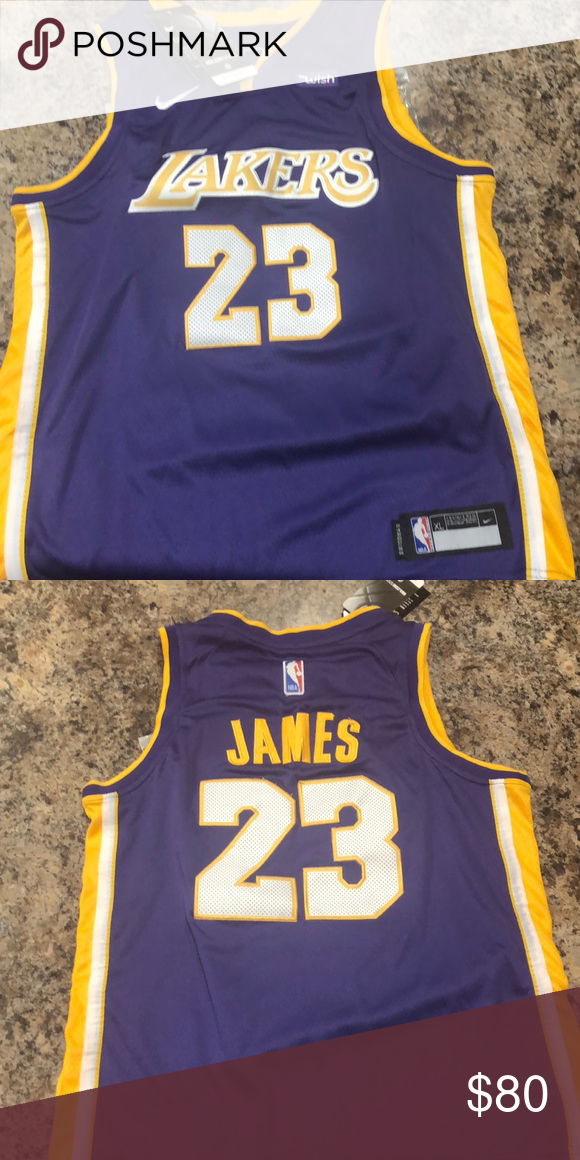 san francisco 70d9f 62d6f Lakers Lebron James #23 Youth Jersey brand new NBA Nike dry ...