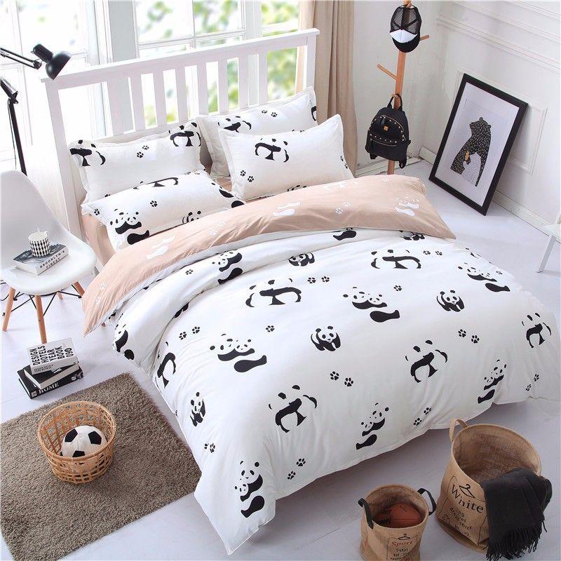 25 Shabby Chic Bed Setting Black And White Bedding Set Panda Bed Sheet Bedspread Duvet Cover Set Twin Full Queen Bedding Sets White Bed Set Bedding Set