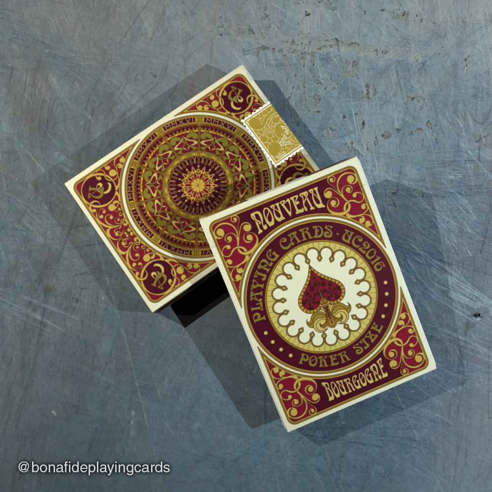 Nouveau Bourgogne Playing Cards – UC2016 Deck – Bona fide Playing Cards