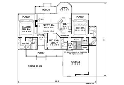 Home Plan The Larkspur by Donald A. Gardner Architects