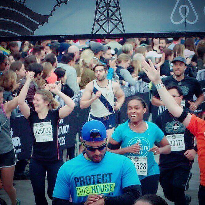 2016 Brooklyn Half-Marathon. #finished #running #tracksmith #tracksmithrunning @tracksmithrunning #airbnb #bobbybrooklyn by __bobby_