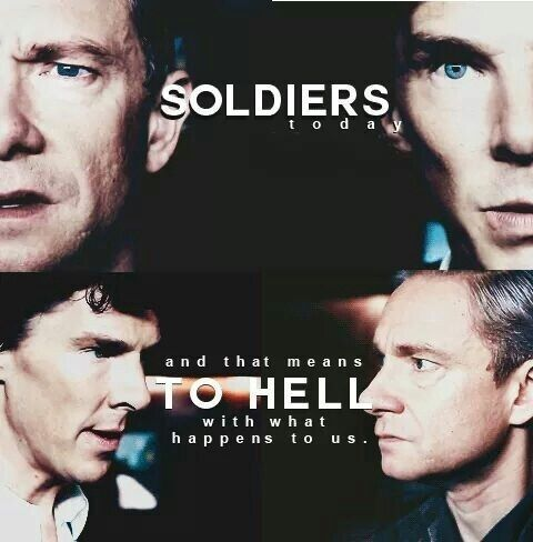 Today We Re Soldiers Sherlock Holmes Bbc Sherlock Quotes Sherlock Funny