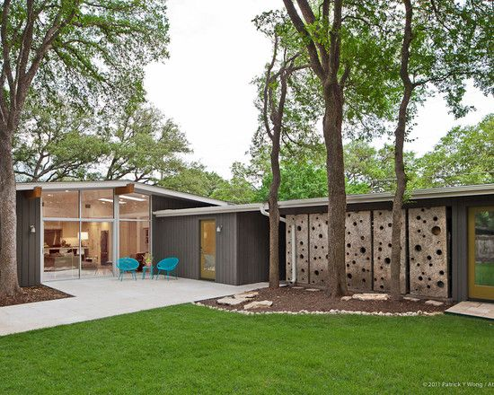 Gray and green atomic ranch pinterest atomic ranch for Mid century modern ranch house plans