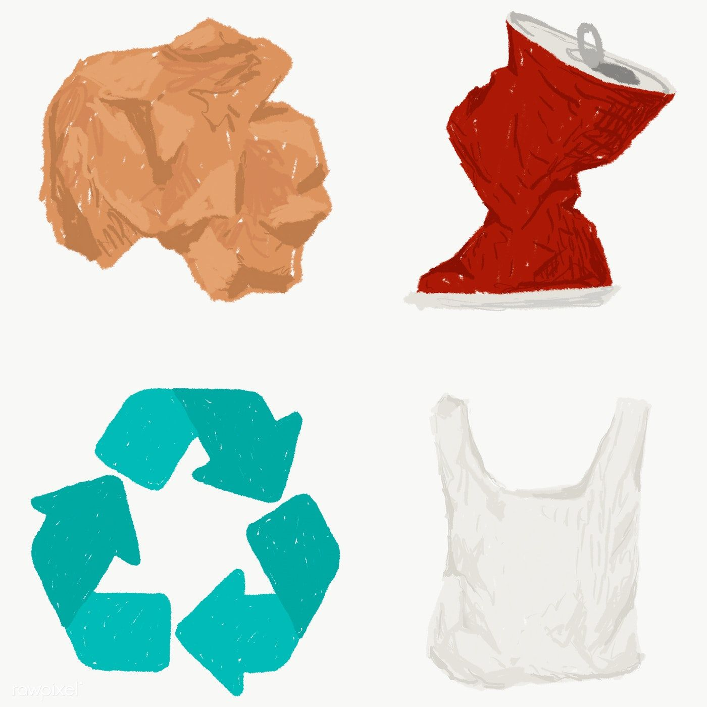 Recyclable Waste Icon Set Transparent Png Free Image By Rawpixel Com Sasi Icon Set Free Illustrations Iconic Photos