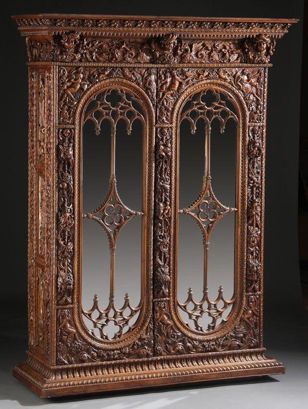 Italian Renaissance Revival Carved Walnut Armoire, circa 1800 ...