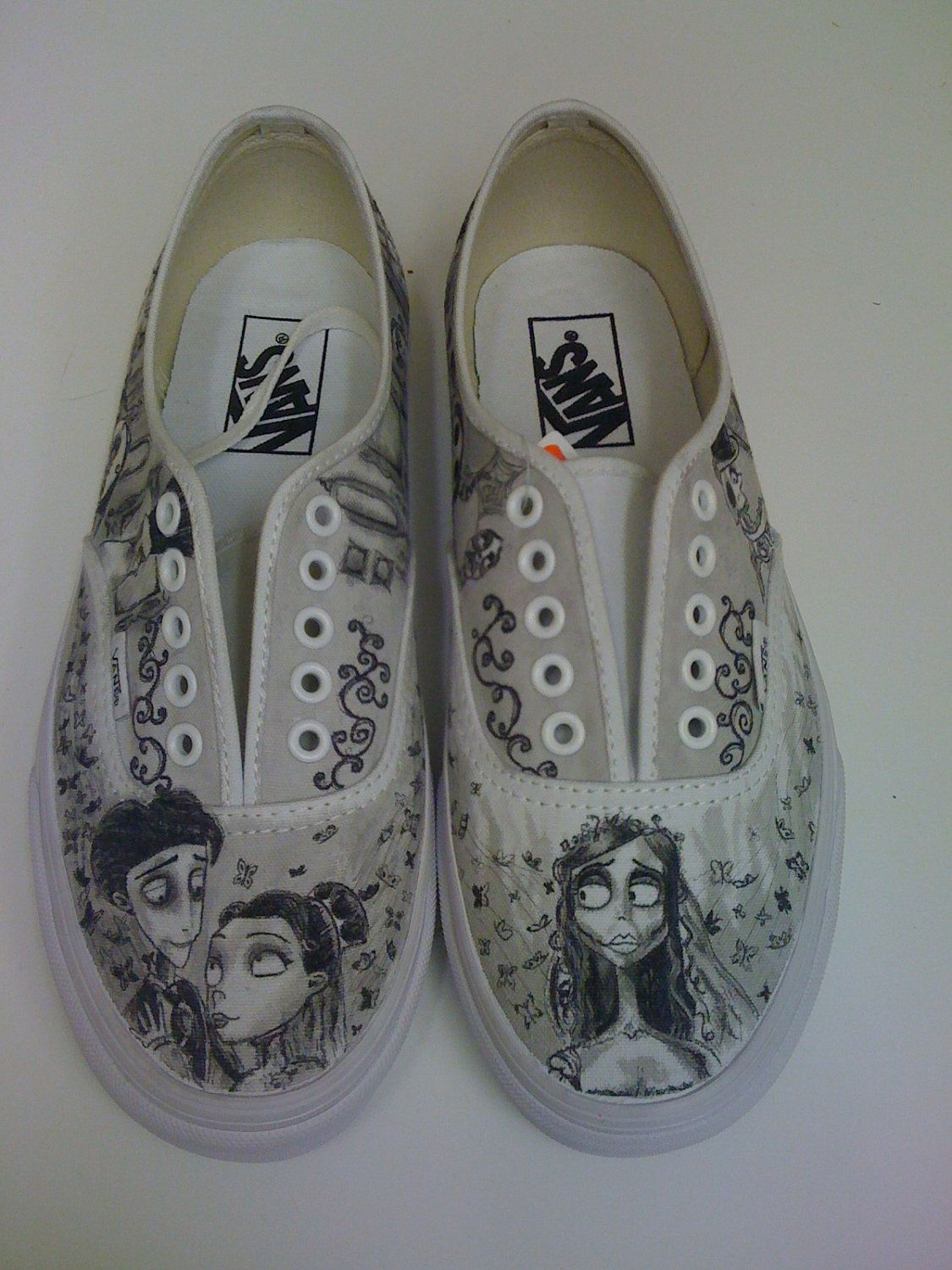 7e45a014c9a33 Corpse Bride Custom Made Shoes in 2019 | ❤s | Custom made shoes ...