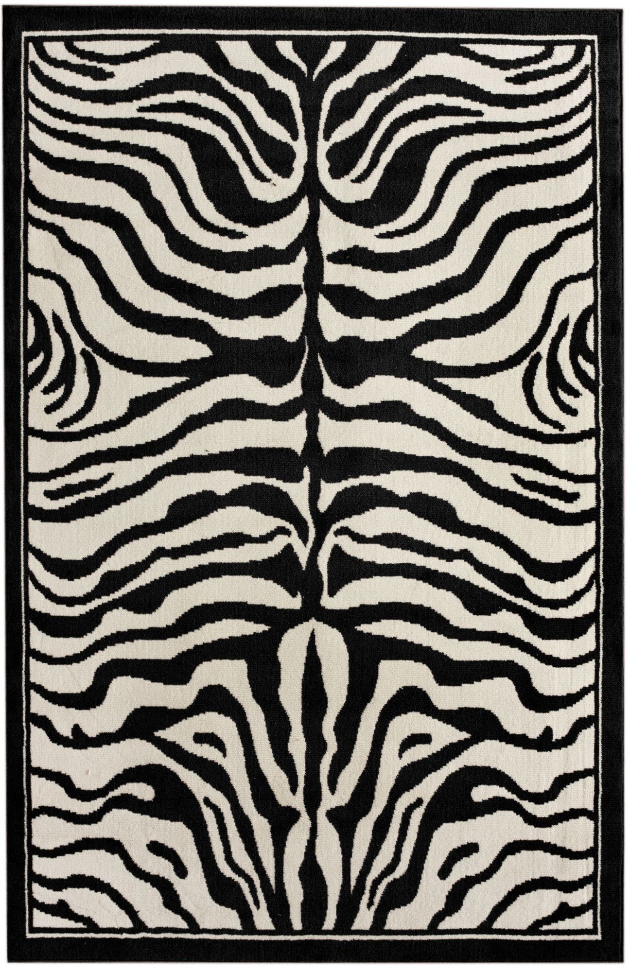 Alfombras Animal Print Zebra Print Black White Area Rug Products In 2018 Pinterest