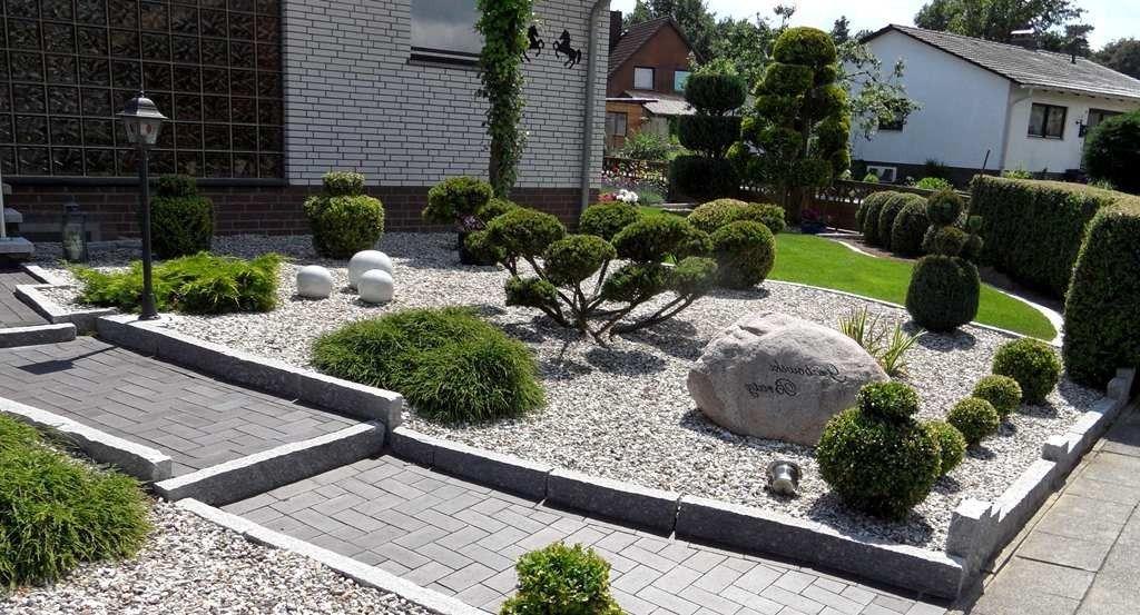Vorgarten Mit Kies Gestalten|Vorgarten Mit Kies Gestalten Pflanzen Kunstrasen Garten #hoflandschaften