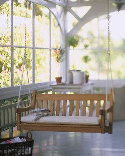 Sunroom Swing would be nice!