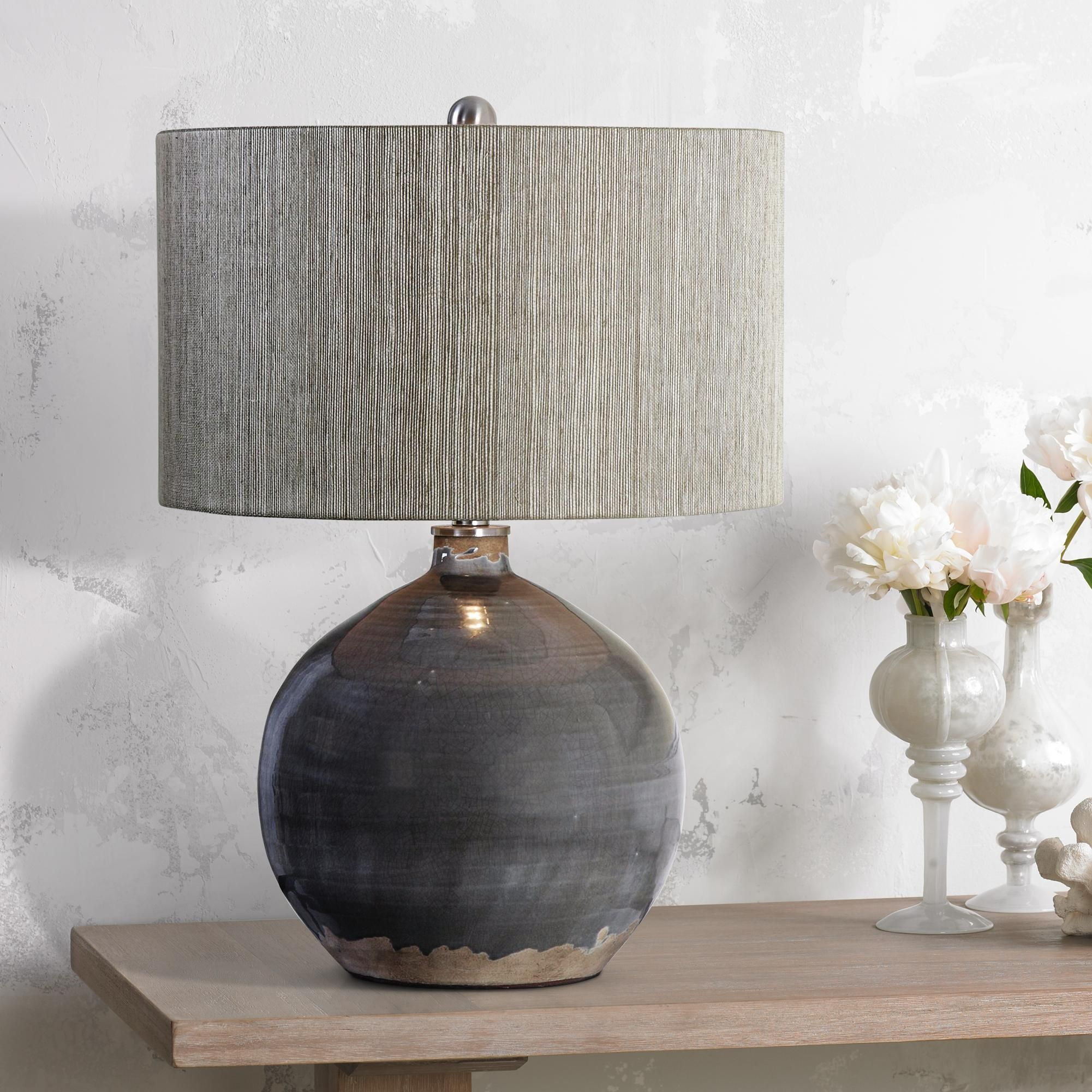 Table Lamps Uttermost Vardenis Charcoal Crackle Ceramic Table Lamp Table Lamps Living Room Table Lamp Design Lamps Living Room #table #lamp #sets #for #living #room