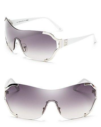 f3dcbf79b Fendi Metal Frame Shield Sunglasses | Bloomingdale's | fashion ...
