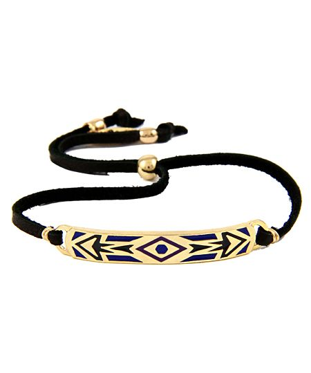 Leather Aztec Bracelet